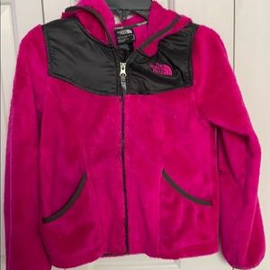Girls pink fleece North Face